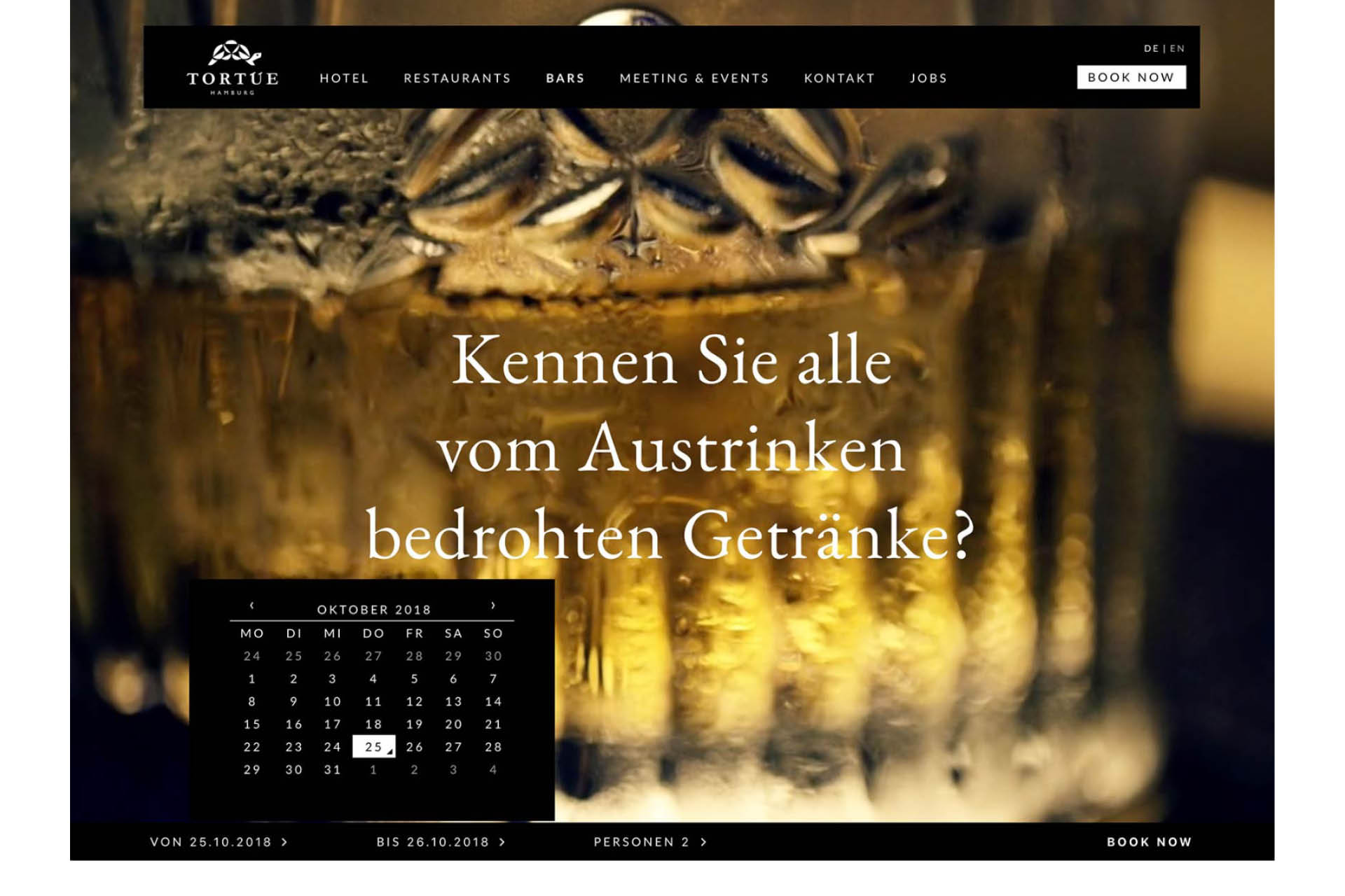 Tortue Hamburg Hotel Website Design Web Konzept